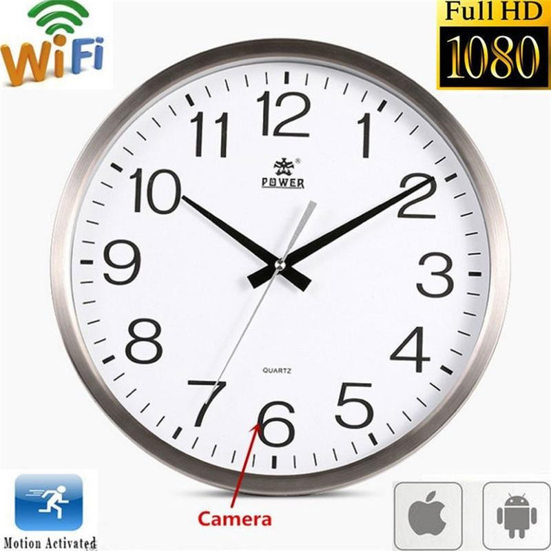 Wifi Hidden Wall Clock Camera Image